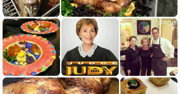 Judge Judy enjoying Crave Culinaire's delights