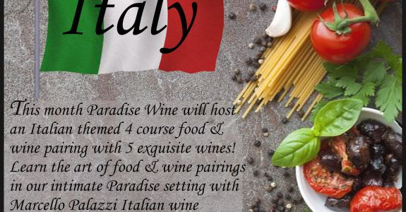 Craving Paradise – Wine and Dinner Series – Italy